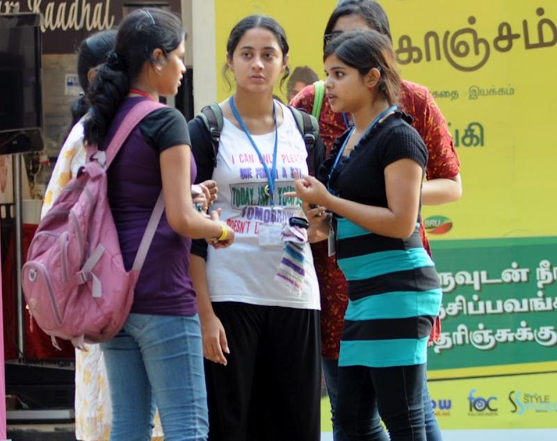 Ethiral college girls - Film promotion fest