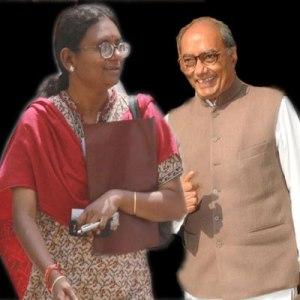 Meenakshi Natarajan with Digvijay Singh
