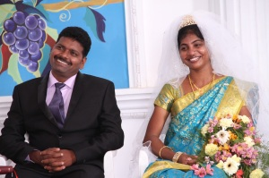 Joseph with Prema during their sham marriage