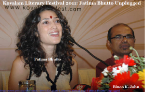 Fatima Bhutto with Binoo K John in Kovalam Lit-fest 2011
