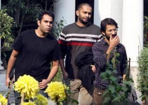 Journalists of Tehelka magazine come out of Goa Sadan after being questioned by Goa police in New Delhi on Sunday 25-11-2013- The Hindu