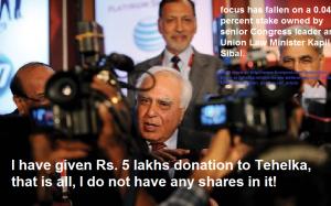 Kapil shareholder of Tehelka