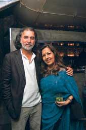 Tarun Tejpal with Rita Bhimani