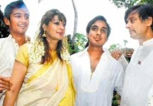 Sasi, Sunanda and sons through Tilothama