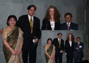 Christa Giles, Tharoor's second wife