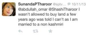 unandas tweet to Omar Abdullah