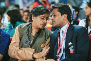 With Lalit Modi