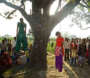 Girls raped hanged in UP