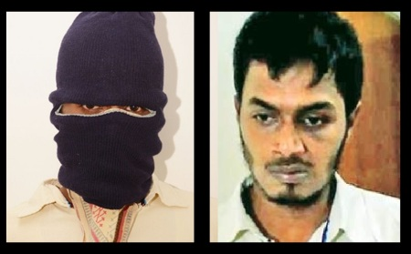 Addul Majid arrested - HYDERABAD, masked and unmasked