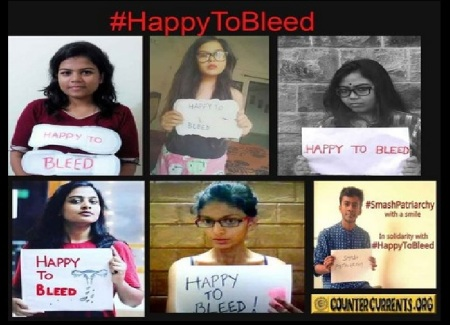 Happy to bleed - campaign against sabarimalai entry deenial to women