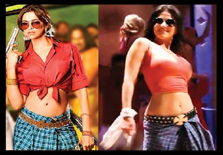 Deepika and Sunny in lungi dress