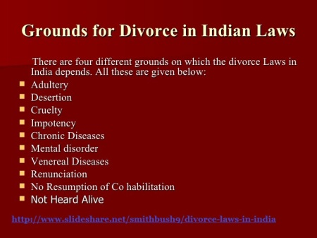 Grounds for divorce in Indian laws