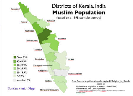 Muslim-Population-Kerala-Map