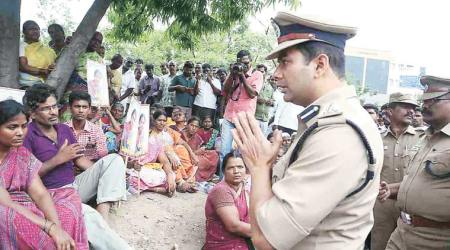 Salem SP Amit Kumar Singh apologises to the family of the deceased - NIE photo