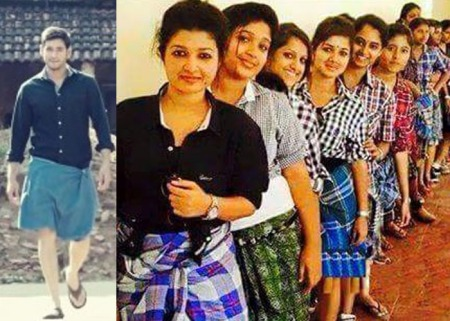 Srimanthudu-Lungi-Effect on USA Ladies