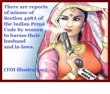 Times of India illustration -misuse of Section 498A of the Indian Penal Code by women